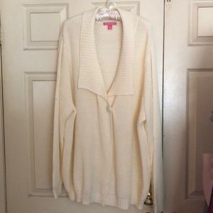Woman Within Sweater One Button Cardigan Size 3X